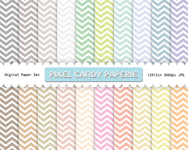 Chevron | | Pixel Candy Paperie