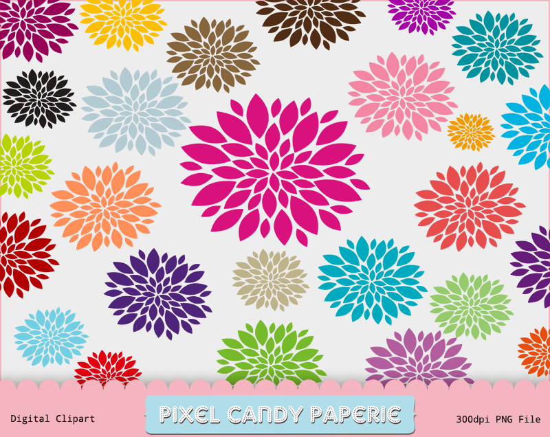 free flowers clip art images pack pixel candy paperie Summer Clip Art Summer Clip Art